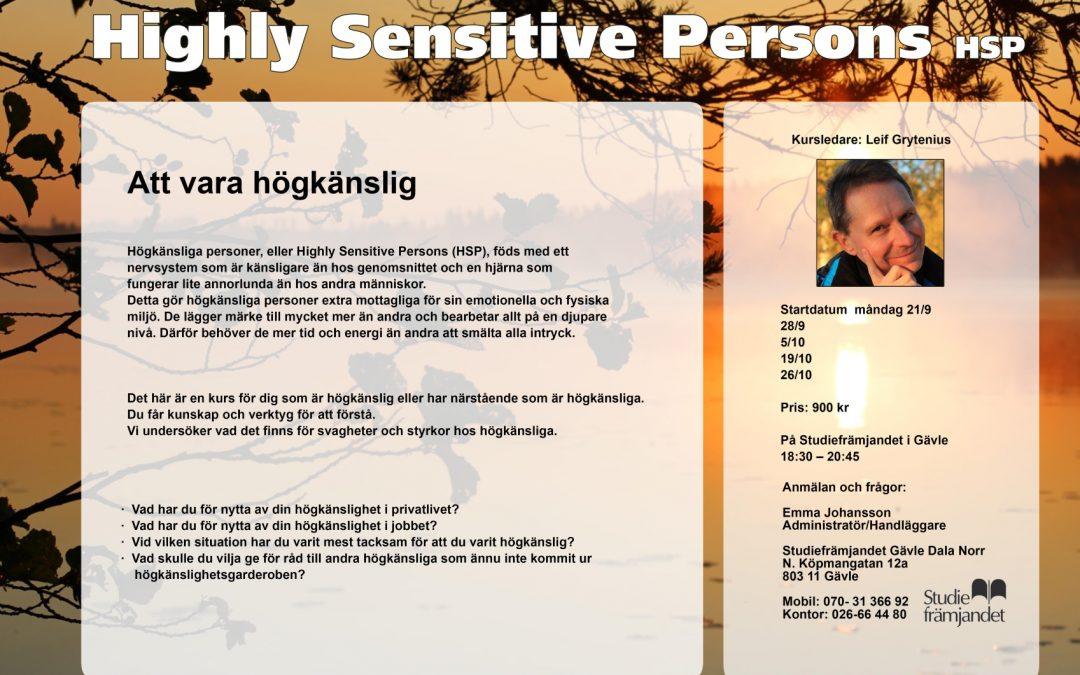 HSP – Kurs i Gävle om att vara högkänslig