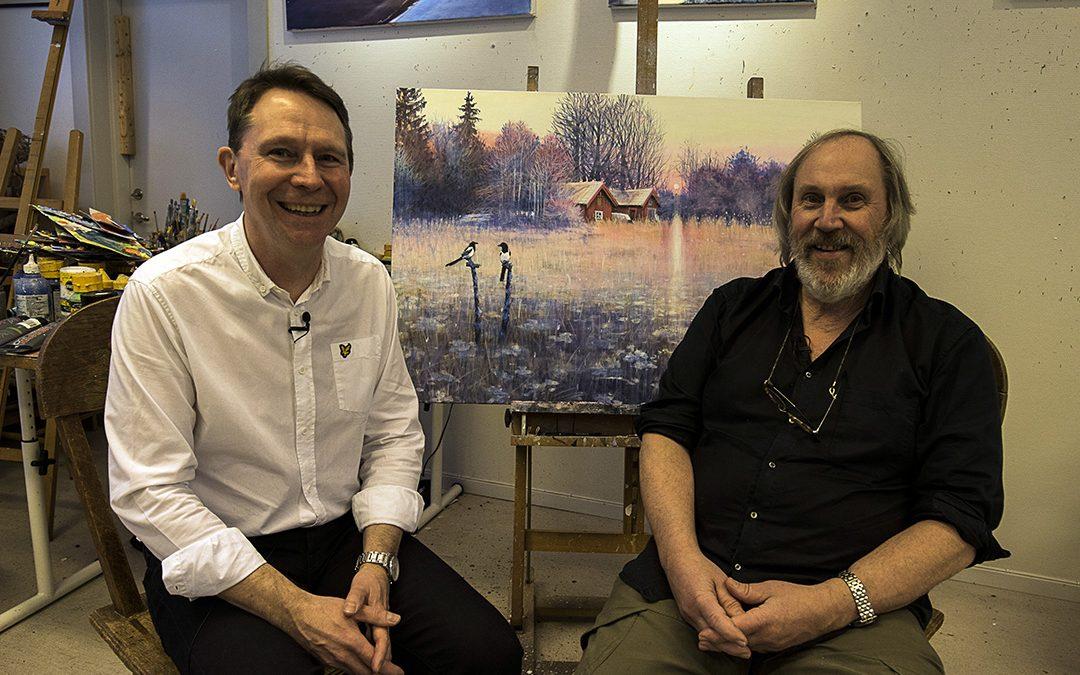 Högkänslig konstnär Johan Thunberg intervjuas av Leif Grytenius