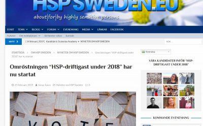 Nu kan du rösta på din favorit i HSP-driftigast under 2018