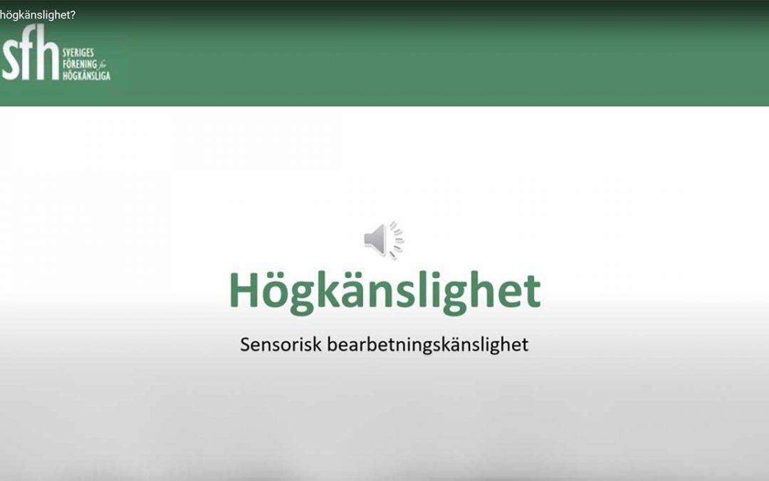 Inspelad föreläsning om högkänslighet – Sensorisk bearbetningskänslighet